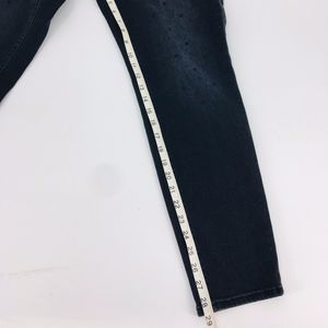 LOFT Jeans - Ann Taylor LOFT Curvy Skinny Dotted Jeans
